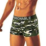 Jaminy 2018 Männer Sommer Ultra Dünne Breathable Big Boxer Briefs Unterwäsche Underpant Hollow Breathe Bulge Pouch Shorts Mesh Herren Boxershort Unterwäsche Slip (C, 3XL)