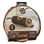 Cat tunnel instant pop up feather toy hide and seek play soft folds away colour may vary 6