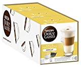 NESCAFÉ Dolce Gusto Latte Macchiato Vanilla | Kaffeekapseln | Feines Vanille Aroma und leckerer Milchschaum | Arabica Robusta Mischung | Aromaversiegelte Kapseln | 3er Pack (48 Kapseln) 565,20g