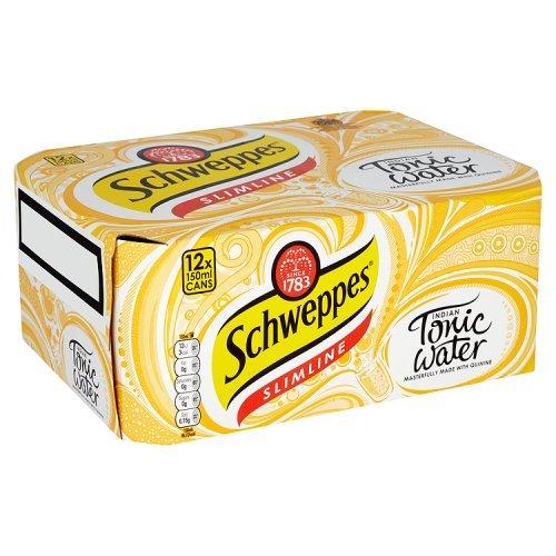 schweppes-slimline-indian-tonic-water-12-x-150ml-kalorienarm-und-ohne-zuckerzusatz