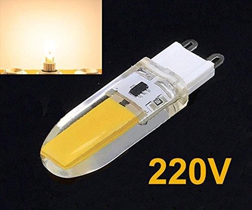 Preisvergleich Produktbild G9 5W LED COB Lampe Birne Leuchtmittel Glühbirne Stiftsockel Warmweiß 230V 3300K