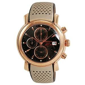 Insignum - Insignum Herren I212111 - Montre Homme - Quartz - Analogique - Chronographe - Bracelet Cuir Beige
