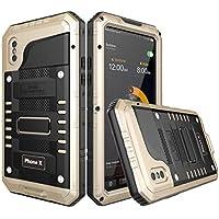 iPhone Xs Max Carcasa Waterproof Casefirst [Certificado IP68] [a prueba de agua] [ultrarresistente] completa con protector de pantalla incorporado Funda Impermeable Para Silicona Carcasa Anti-agua a Prueba de Golpes Anti-polvo Waterproof Case - iPhone Xs Max (Golden )