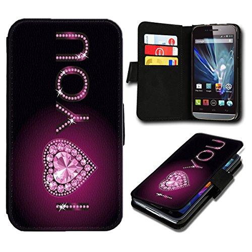 Book Style Wiko Darkmoon Premium PU-Leder Tasche Flip Brieftasche Handy Hülle mit Kartenfächer für Wiko Darkmoon - Design Flip SB763