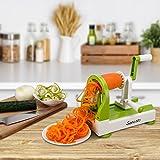 Sancusto - Spiralschneider Gemüseschneider Messereinsätze Gemuese Spaghetti Schneider Kartoffelschneider Gemüseschneider für Gurke Karotte Zucchini Noodle