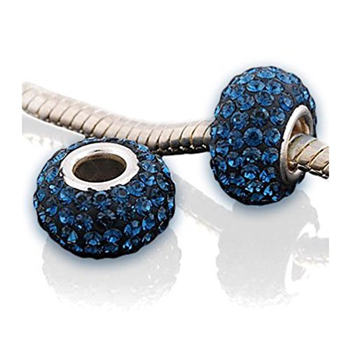 Andante-Stones 925 Sterling Silber Kristall Bead