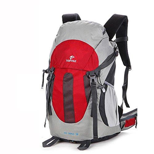 ALUK-Outdoor-Klettern Tasche Schulter Reisesuspendierung atmungsaktiv, wasserdichte Wander Schultern kleiner Rucksack Rot