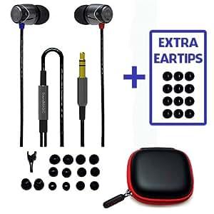 BONUS Value Pack! SoundMAGIC E10 SILVER, Noise Isolating In-Ear Earphones + Extra eartips