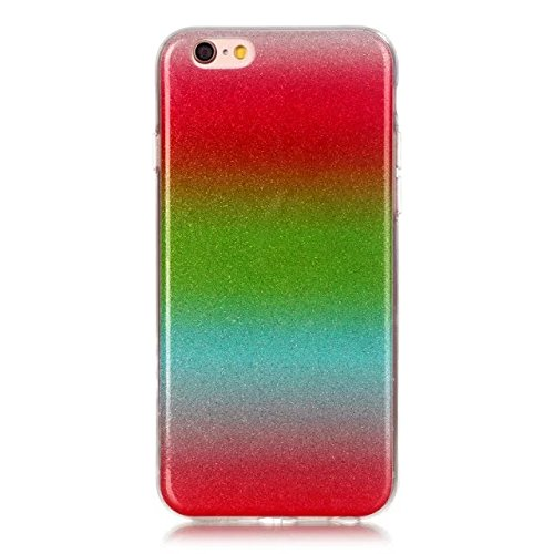iPhone Case Cover Transparent Gradient couleur souple TPU Housse de protection souple de couverture pour iPhone 6 6s ( Color : Multi-colored , Size : IPhone 6 6s ) Metallic