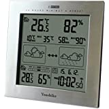Youshiko Wireless Weather Station with Radio Controlled Clock (UK Version) , Indoor Outdoor Temperature Thermometer, Humidity, Date & Frost Alarm