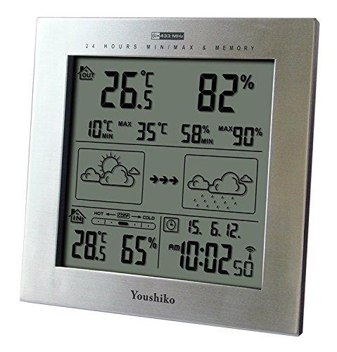 Youshiko Wireless Weather Station with Radio Controlled Clock
