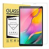 Gerutek Samsung Galaxy Tab A 10.1 SM T510 / SM T515 (2019) Displayschutzfolie Premium Glas Displayschutzfolie mit [9H] [Ultra Clear] [Anti-Kratzer] [Blasenfrei] für Samsung Tab A T510 / T515 10.1 2019