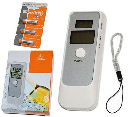 Tester alcoholímetro digital LCD Test tejón Alcoholímetro alcolemico despertador + pilas