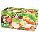 ANDROS Compotes de Pommes en Gourdes 18 x 90 g