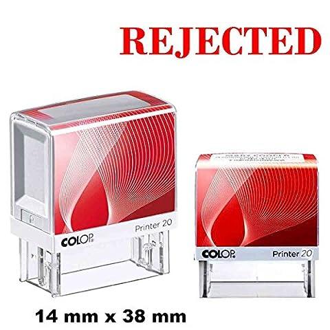 Selbstfärbende Stempel abgelehnt Custom COLOP Büro stationären 14 X 38