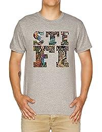 Vendax Sticky Fingers Caress Your Soul Logo Camiseta Hombre Gris
