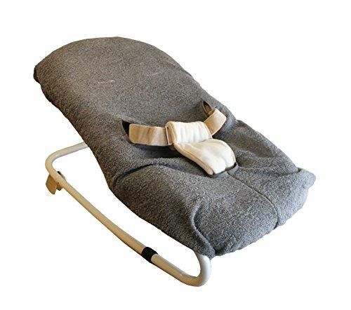 Bambisol Bezug für Liegestuhl aus Frottee, grau