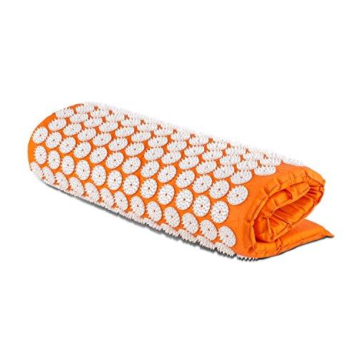 Capital Sports Relax Entspannungs- und Yantramatte Akupressurmatte Massagematte (80x50cm, 9075 Akupressur-Druckpunkte, 275 Nagelkissen mit je 33 Spitzen, waschbarer Bezug) orange -