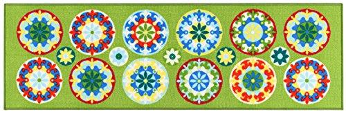 Viva, murrine, tappeto, verde, 150 x 100 cm