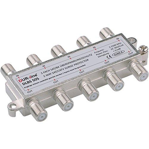 5 fach Sat-Überspannungsschutz - Blitzschutz -5 x Überspannungsschutz in 1 Gehäuse [DUR-line DLBS 505]