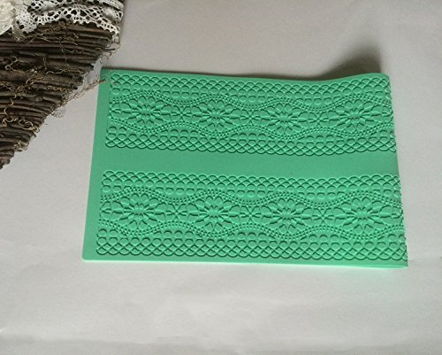 Silikon matte essbare Spitze Tortendeko Cake Lace Ausstechform Fondant Mould Ausstecher 142 (Decor Cake Frozen)