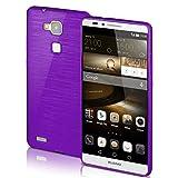 Huawei Mate 7 Hülle Silikon Lila [OneFlow Brushed