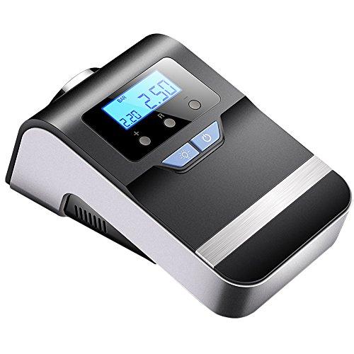 YLG Digitaler Auto Kompressor, 100 PSI Luftkompressor, Kompressor Auto Tragbare mit LED Notlicht Für Auto Motorrad Fahrrad Basketball