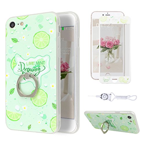 Etui iPhone 7 TPU, Coque iPhone 7 Case, Moon mood® 3D en Relief Peint Coque de Téléphone avec Anneau Support Protecteur d'écran TPU Étui Arrière Housse pour iPhone 7 4.7 pouce Téléphone Cellulaire Coq Style-3