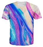 Loveternal Unisex 3D Druck T-Shirt Sommer Casual Grafik Kurzarm Tops Tees S