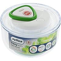 Zyliss Easy Spin–Escurridor para Lechuga (, Verde, Grande, plástico, Blanco, 21.5x21.5x13 cm