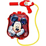 Toyshine Startoys Holi Water Gun with High Pressure, Back Holding Tank, 3.0 L, Mickey Mouse, Red