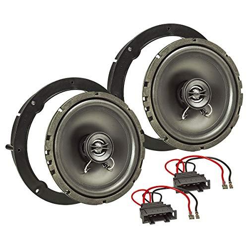 tomzz Audio 4057-006 Lautsprecher Einbau-Set passend für VW Golf 4 5 6 7 Polo Passat Up Amarok Jetta Lupo EOS 165mm Koaxial System TA16.5-Pro 8-wege-koaxial Kabel