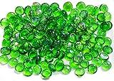 ARSUK Kiesel, gerundete Dekorsteine, für Vasen und Dekoration, Marbles, Glasmurmeln, Wohnaccessoires & Dekoartikel 200pcs (1kg) (Grün)