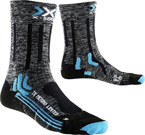 X-Socks Damen Socken Trekking Merino Limited Lady, Grey/Black, 37/38, X100078