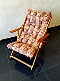 POLTRONA SEDIA SDRAIO HARMONY RELAX (MARRONE) in legno pieghevole cuscino imbottito soggiorno cucina giardino salone divano