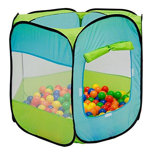 Kinderzelt Pop-Up-Zelt ELLIOT | Bällebad Zelt für Drinnen und Draußen | Kinderspielzelt inkl. Aufbewahrungstasche | ohne Bälle (Bällebad Zelt)