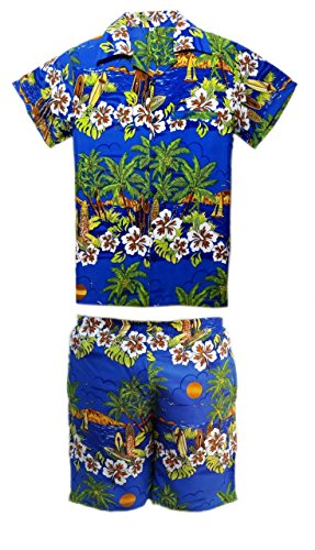 aa7c62cac Mens Hawaiian Shirt STAG Beach Hawaii Aloha Party Summer Holiday Fancy Palm  Shirt and Short Set