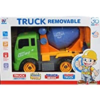 Allkindathings Children Toy Construction Lorry Truck Set Cement Mixer Constructions with Tools