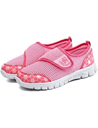 QLVY Calzado Para Niños Deportivo Zapatos de Verano Casuales Transpirables Ligero Velcro
