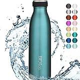 720°DGREE Borraccia Termica Acciaio Inox 'milkyBottle' - 500 ml - Senza-BPA, Isolato Sottovuoto, Doppia Parete, A Prova di Perdite Anche per Acido Carbonico - Bottiglia Termos