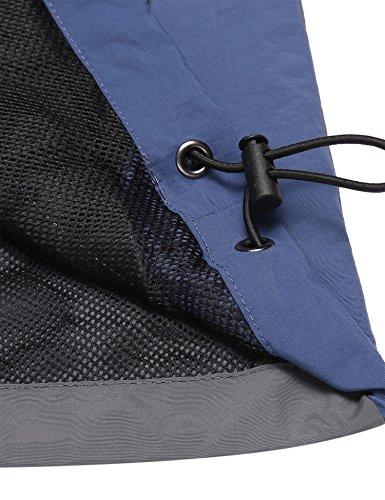 Unibelle Herren Outdoorjacke, Wasserdichte Übergangsjacke Regenjacke Mit Kapuzen 1_Grau