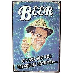 Carteles y chapas de Cerveza Vintage. Placas metálicas Decorativas de Pared Bar