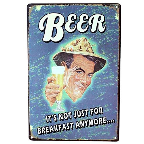 Chapas Decorativas Pared ✔️ Placas Metálicas Vintage de Cerveza