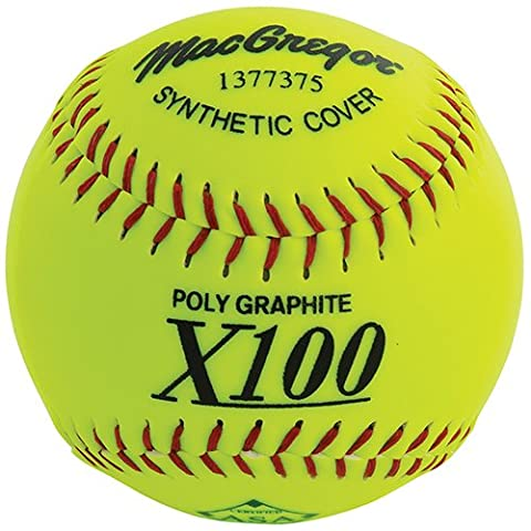 MacGregor X52RE ASA Slow Pitch Synthetic Softball, 12-Inch, Pack of
