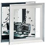 Viereckiges Teelichtglas Teelichthalter mit Motiv Wintertraum für 1 Teelicht