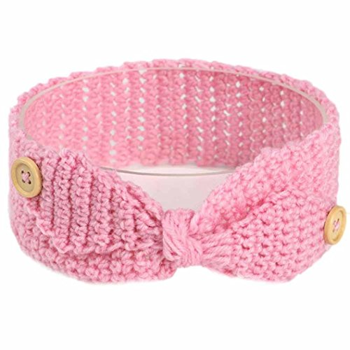 KanLin Baby Keep Warm Button Knitting Infant Kids Girl Hairband Phtography Props (Girl Trucker Kostüm)