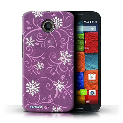 Kobalt® Imprimé Etui / Coque pour Motorola Moto X (2014) / Rose conception / Série Motif flocon de neige Rose