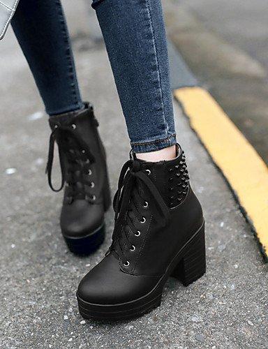 ShangYi Mode Frauen Schuhe Damenschuhe Heels Stiefel Mode / Outdoor / Büro & Karriere / Casual Ferse OthersBlack / &8-5 Schwarz