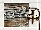 Dekorfolie Fliesen überkleben | Motiv-Folie Sticker Aufkleber Badezimmerfolie Badezimmergestaltung | 15x15 cm Design Motiv Hochbejahrt - 9 Stück