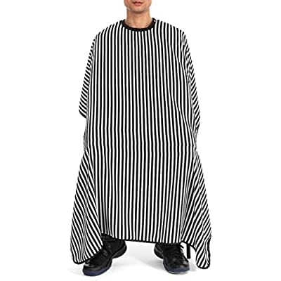 BZLine® Stripe Cutting Hair Waterproof Cloth Hair Salon Barber Cape Gown Hairdressing Apron